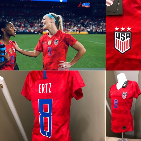 new concept 15d26 2fbe1 Julie Ertz #8 USA Womens Soccer Jersey World Cup NWT
